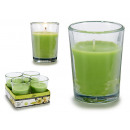 wholesale Drinking Glasses: set of 4 glass lily candles 6h
