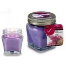 Glas Top Kerze Lavendel Metall 16h