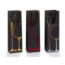 paper bag wine decoration glasses assorted 3 color