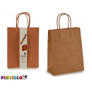 grossiste Fournitures de bureau equipement magasin: lot de 2 sacs en papier couleur kraft
