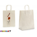 conjunto de 2 bolsas papel color blanco