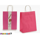 lot de 2 sacs en papier rose
