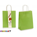 set of 2 green paper bags