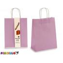 lot de 2 sacs en papier violet