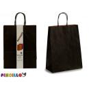 set of 2 large black paper bags