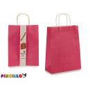 set of 2 large pink paper bags