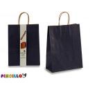 set of 2 large paper bags colors blue dark