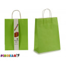 set of 2 large green paper bags