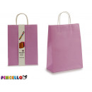 Großhandel Geschäftsausstattung: Set mit 2 großen lila Papiertüten