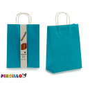 set of 2 large paper bags blue color