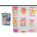 bathroom curtain 180x180 luxury tulips