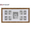 multiple photo frames 9 fot dark wood