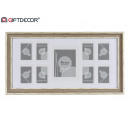 multiple photo frames 9 fot gray wood