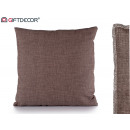 cushion 40x40 brown gray