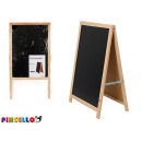 blackboard black wood 100x55cm