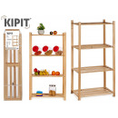 wide wooden shelf 4 shelves