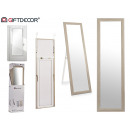 wholesale Mirrors: 38x127 cm mirror with gray wood foot