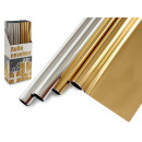 Metallic roll 70x150cm gold and silver assorted