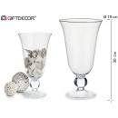 glass cup with foot