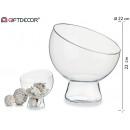 pot en verre avec sphère