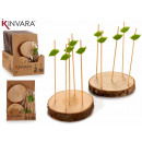 wholesale Kitchen Utensils: set of 2 supports wood trunk 10 skewer