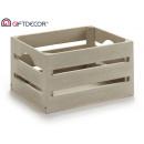 gray wooden box 21x15x11 cm