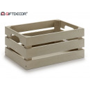 graue Holzkiste 33x23x15 cm