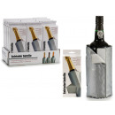 gray champagne bottle cooler