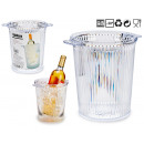 transparenter gestreifter Eiskübel aus Kunststoff