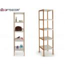 wholesale Bath Furniture & Accessories: bamboo shelving 5 white floors