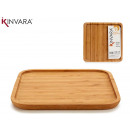 medium square bambu appetizer table