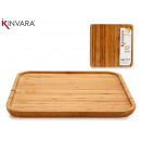 large square bamboo appetizer table