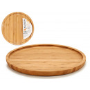 Round medium bamboo appetizer table