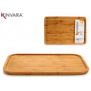 large rectangular bambu appetizer table