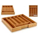 couverts en bambou 7 trous extensible