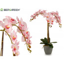wholesale Artificial Flowers: orquidea pink cone conical gray jumbo