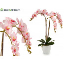 wholesale Artificial Flowers: pink orchidea conical white jumbo pot