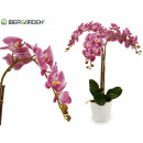 wholesale Artificial Flowers: orchid lilac conical white jumbo