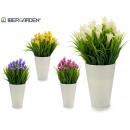 white flower pot bell, 4 times assorted color