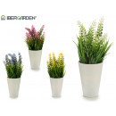wholesale Artificial Flowers: white flower pot lengthened, 4 times assorted colo