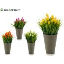 wholesale Artificial Flowers: flowerpot gray flower spike, colors 4 times ...