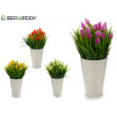 wholesale Artificial Flowers: flowerpot white flower spike, colors 4 times assor