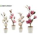 grossiste Maison et habitat: pot de fleurs blanc grands pétales allongés 4 ...