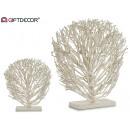 albero decorativo in legno bianco piatto
