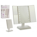 plastic mirror 18x30 8leds window sopo