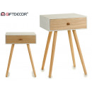 table aux 1 white drawer legs wood
