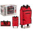 sac à provisions avec roues pliantes rouges