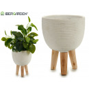 wholesale Garden & DIY store: flower pot cement legs wood blah medium oval