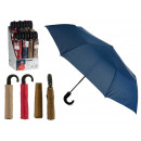 wholesale Umbrellas: folding umbrella handle colors 4 times assorted os