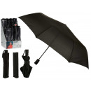 black folding umbrella